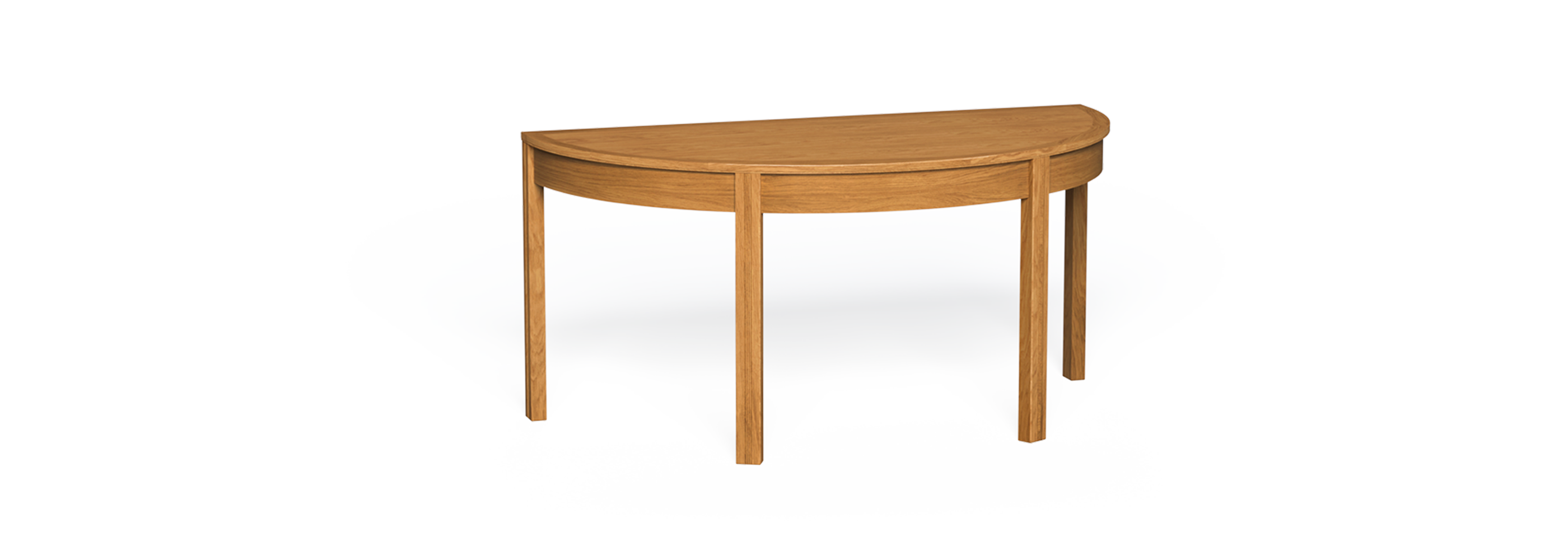 Minerva D-end timber table back