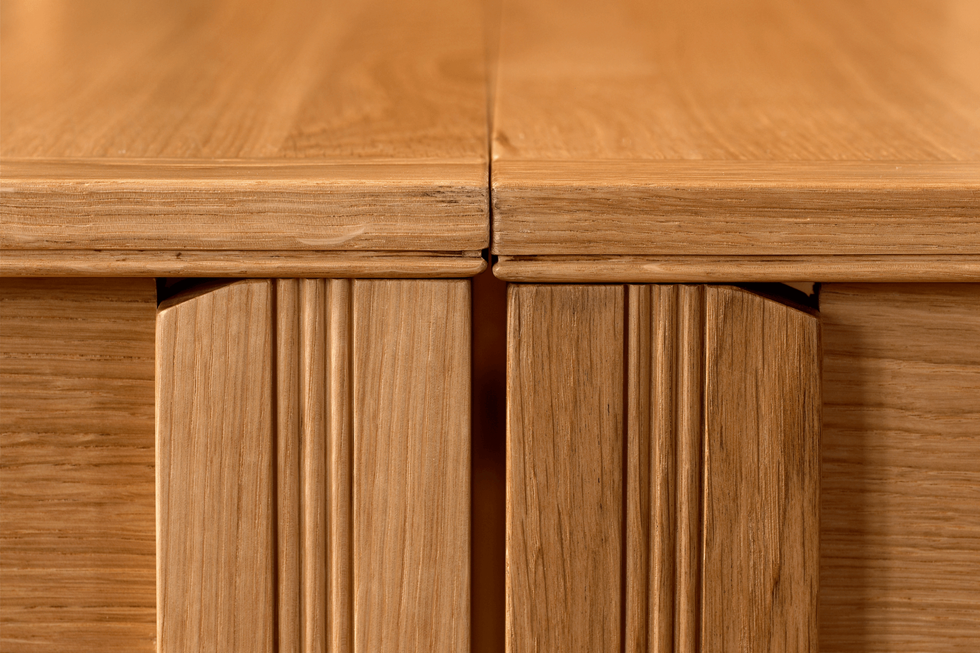 Minerva D-end timber table image 1