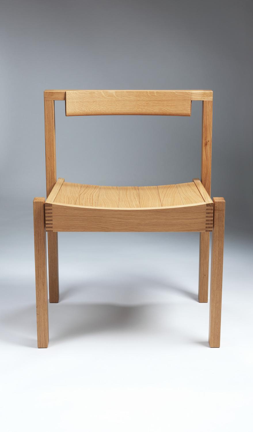 Luke Hughes Coventry Chair in European Oak - Front